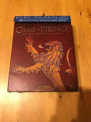 Game of Thrones: The Complete Second Season (Blu-ray/DVD, 2013, Includes Digital