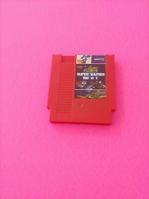 NEW Super Game 150-in-1 (8-Bit NES Nintendo) Red Video Game Cartridge - Tested