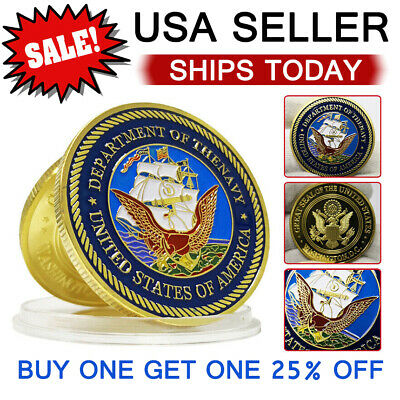 Department of Thenavy United States of America Army Navy Commemorative Coin