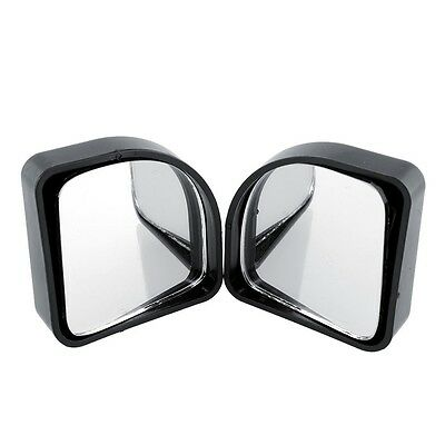 Adjustable 2x Car Blind Spot Rear View Mirror ViewMirror Rotatable Black - UK