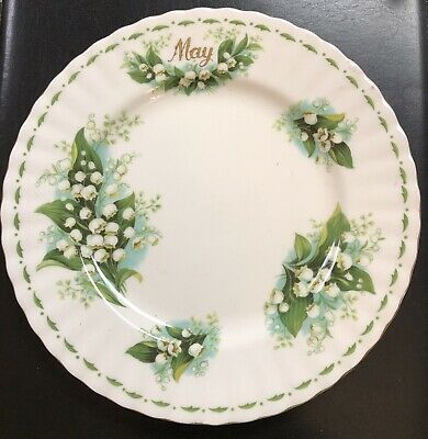 Royal Albert Flower of the Month May Lily Of The Valley Salad Plate Bone China
