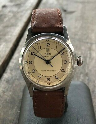 40's Rolex / early Tudor RWC, ref 4453, cal 59, sector dial, Rose+Shield vintage