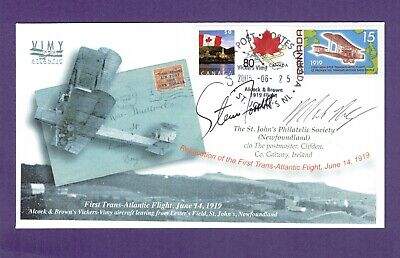 Newfoundland Alcock  Brown TransAtlantic flight cover 1919 / 2005  Steve Fossett