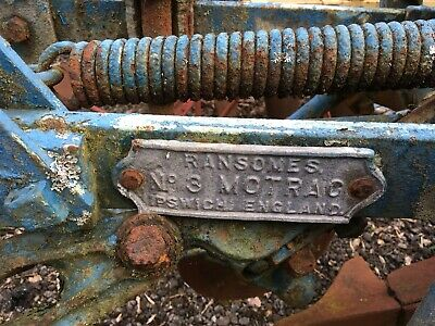Ransomes 3 Furrow Trailed Plough Viintage