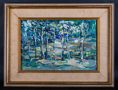"Vintage Canadian Impressionist Original Oil ""Forest Scene"" Signed"