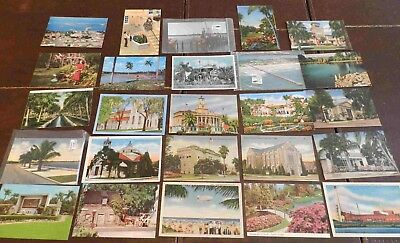 Lot of  25 Postcards (Lot 283) 25 Different Florida Cities 19 Unposted