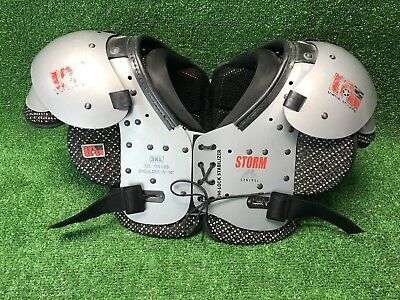 """United Athletic Storm U-FSP040 Football Shoulder Pads Youth XS 9/""""-10/"""" width NEW"""