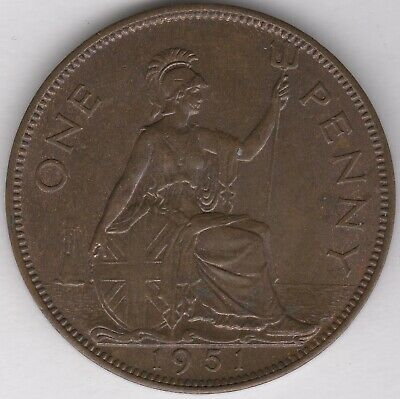 1951 George VI One Penny   Key Date   Pennies2Pounds
