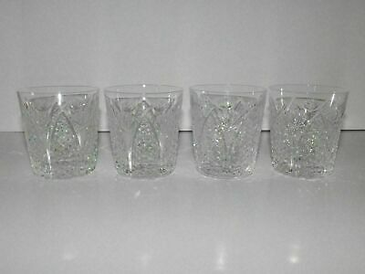 """4 Waterford Crystal Dunmore 3 1/2"""" Old Fashioned Glasses"""
