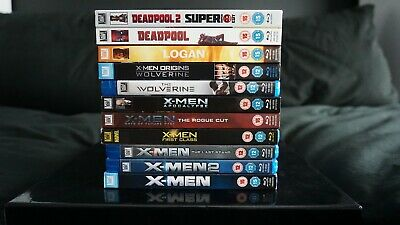 Marvel Xmen Collection Blu Rays (11 films)