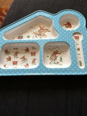 CATH KIDSTON Cowboy children/nibbles melamine tray with compartments - New