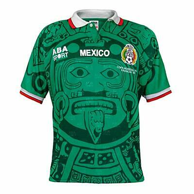 Mexico Authentic 1998 Football World Cup Soccer Green Jersey T-Shirt