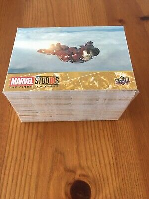 Marvel Studios, the first ten years, 100 card base set