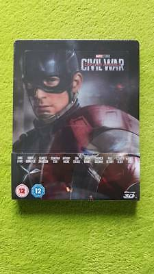 Captain America Civil War Zavvi Lenticular Steelbook BluRay Marvel Avengers NEU