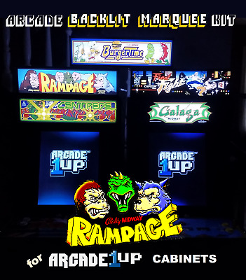 Arcade1up Rampage Backlit Marquee Kit for Arcade1up Cabinets