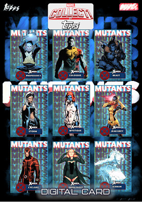 2019 X-MEN MUTANTS BLUE COMPLETE SET OF 9 CARDS Topps Marvel Collect Digital