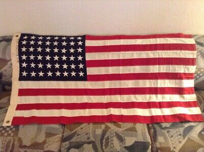 "Mint Rare American Flag Co. NY Vintage 48 Star US American Flag 55"" x 30"" No. 11"