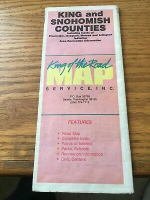 KING AND SNOHOMISH Counties Washington State King Of The Road Map A+ King Of The Road Map Service on king water, king county map, king airport maps, king calligraphy, king fire maps,