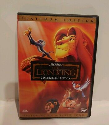 The Lion King - Disney Platinum Edition Features an All-New Song - 2 DVD's Set