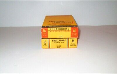 Lot of  Two (2) Sealed Kodachrome 16mm, 50 ft Movie Film Magazines EXP 1949/1953