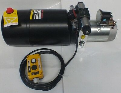 Hydraulic Power Pack 12V DC 1.6 KW Single Acting 12 lt tankFREE POST AUSTRALIA !