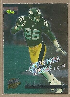 Rod Woodson 1995 Classic Pro Line Printers Proof #GB27 STEELERS 1 of 175