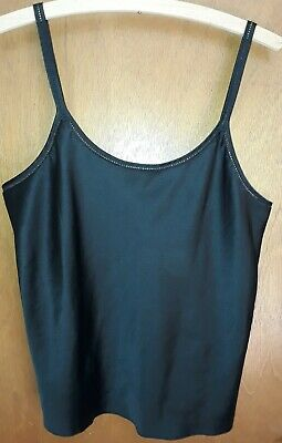 Black M&S Ladies Satin Camisole Cami Lingerie Vest Size 14 Marks & Spencer Women