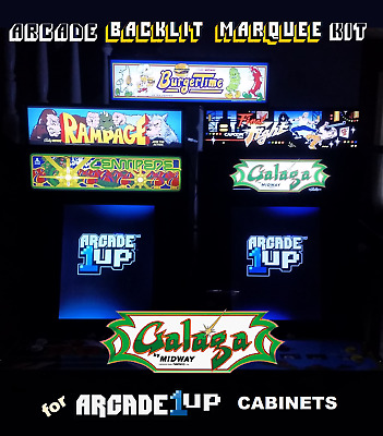 Arcade1up Galaga Backlit Marquee Kit for Arcade1up Cabinets