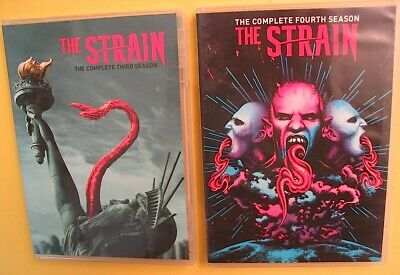THE STRAIN The Complete Third Season AND Fourth Season 2 DVD Sets FX TV Series