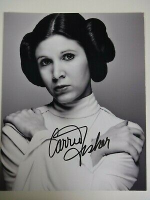 CARRIE FISHER  SIGNED PHOTO  as PRINCESS LEIA