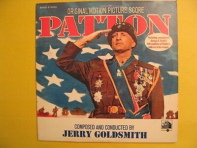 Patton Original Motion Picture Score LP Record Jerry Goldsmith George C. Scott