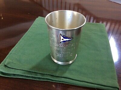 Vintage Wallace Sterling Silver Boat Racing Award Trophy Julep Cup 1965 Sailing