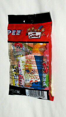 The Simpsons Pez Candy Bag Homer 10 Candies & 2 Stickers  - Still Sealed - Mint