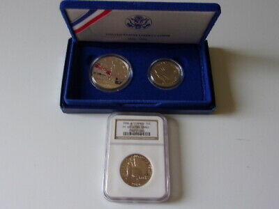 1986 Statue of liberty silver Comm set and NGC graded PF 69 clad coin. Lot of 2.