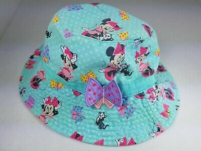 124dc8b0b MINNIE MOUSE BUCKET Hat Red w/ White Polka Dots Disney Parks, Girl's ...