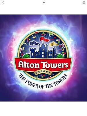 2 X ALTON TOWERS TICKETS Valid Thursday 26th Sep - 26.9.2019
