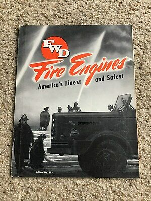 1940s FWD Fire Engines,  original factory printed sales information.