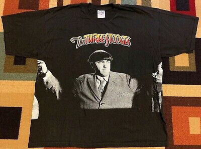 ~RARE~Vintage~1999~The Three Stooges T-Shirt~Moe~Larry~Curly~Mens XXL~2XL