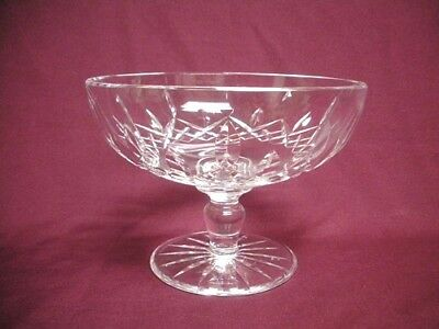 WATERFORD Crystal Glass LISMORE Footed Compote Candy Nut Bowl Signed MINT Vntg