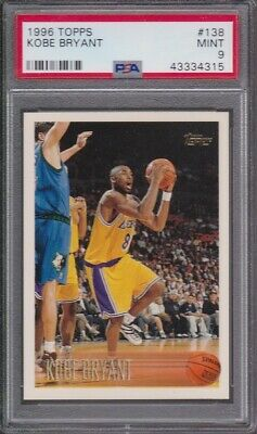 1996 Topps 138 Kobe Bryant ROOKIE RC PSA 9 MINT - LOS ANGELES LAKERS