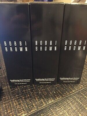Bobbi Brown Conditioning Brush Cleanser 3.4oz/100ml X 3 Tubes 10.2 Ozs Total