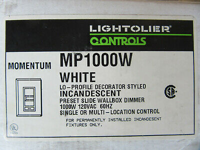 Lightolier MP1000W Incandescent 1000W Slide Dimmer 120V NEW!!! Free Shipping