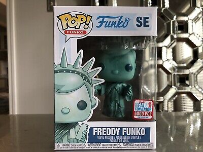 Freddy Funko Pop Statue Of Liberty Fall Convention NYCC Exclusive Limited 6000