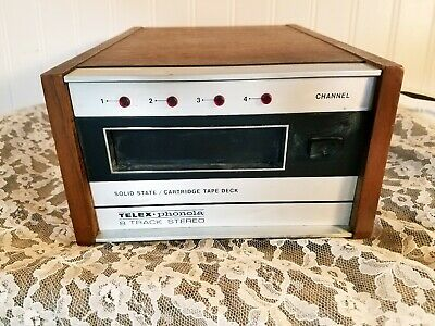 Vintage Telex Phonola 8 Track Tape Player~Solid State + 4 Tapes!