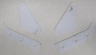 Medieval Madness pinball clear plastic protectors set 2 slings 2 inlane