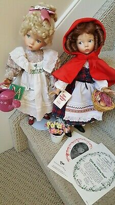 """Dianna Effner Porcelain  Doll 'Mary,Mary,Quiet Contrary' 15"""" tall & accessories"""