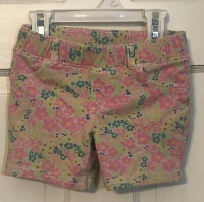 Jumping Beans Girls Size 5 Cotton Shorts Neon Flowers
