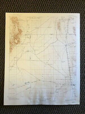 Vintage USGS Tularosa New Mexico 1916 Topographic Map 1943