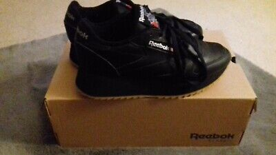 7e2270c54f68 WOMENS REEBOK CLASSIC Leather Double Trainers Black Gum Silver ...