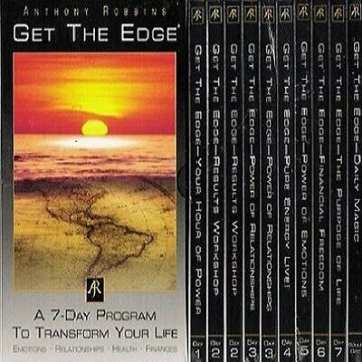 Anthony Tony Robbins Get The Edge: 7-Day Program to Transform Your Life 10 CDs